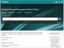 Homepage for Ottawa Citizen database