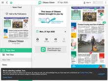 Homepage of Ottawa Citizen