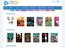 Homepage for Teen Book Cloud