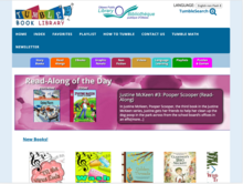 Homepage for TumbleBook Library