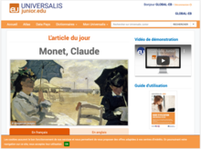 Homepage of Encyclopædia Universalis Junior