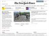 Homepage of New York Times
