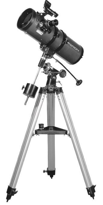 Orion StarBlast II 4.5 EQ Reflector telescope on tripod
