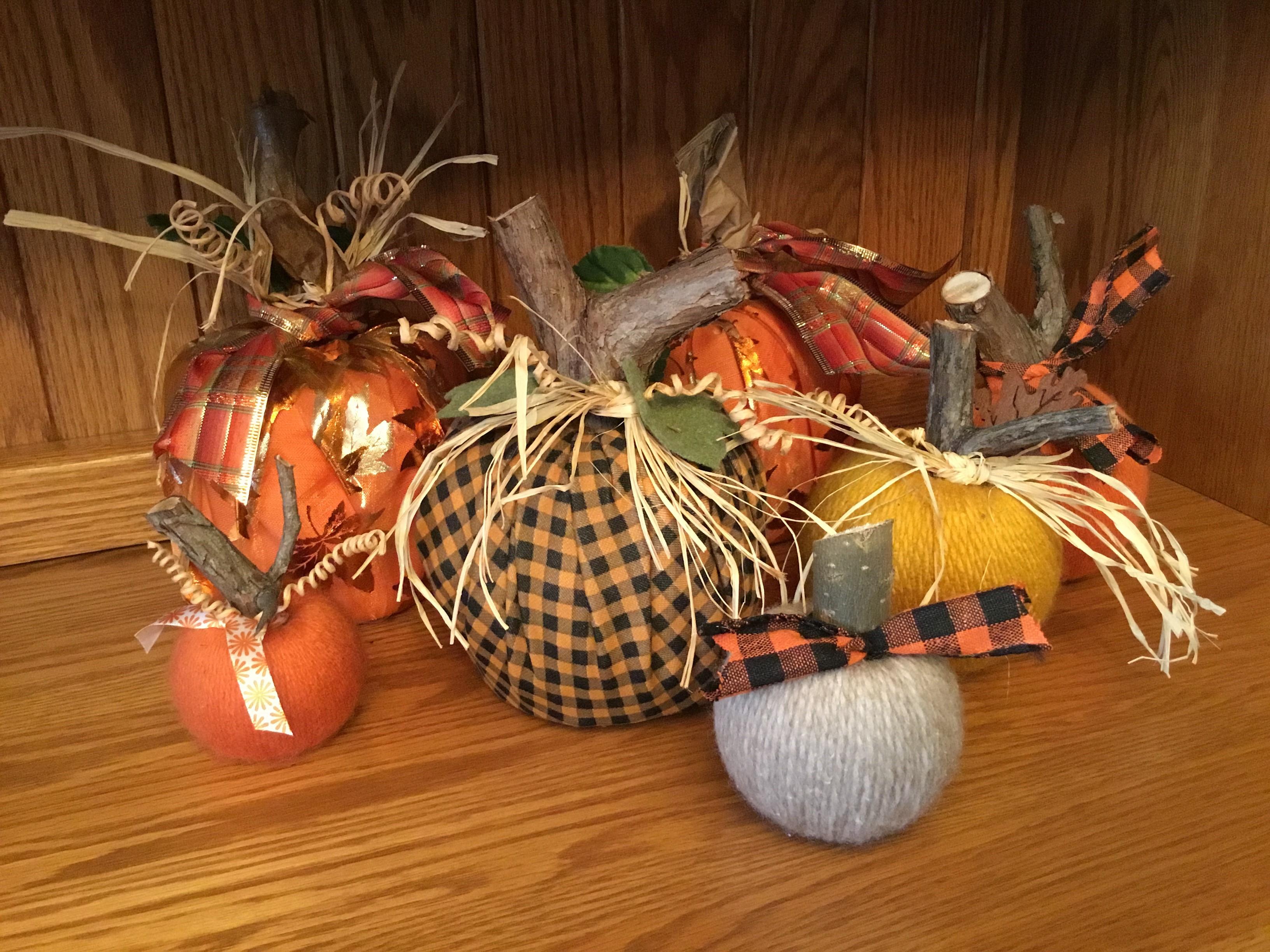TP and yarn pumpkins