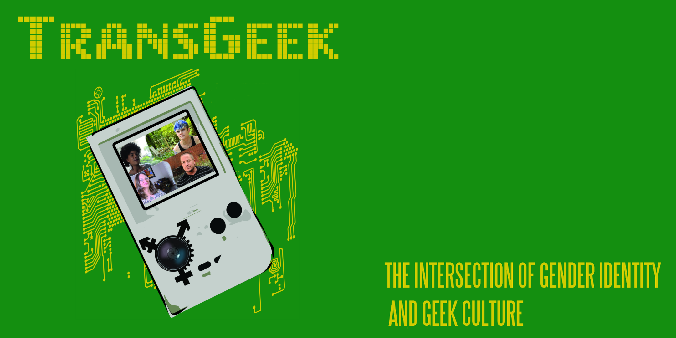 TransGeek Movie event banner, shows a handheld gaming console and still images from the film
