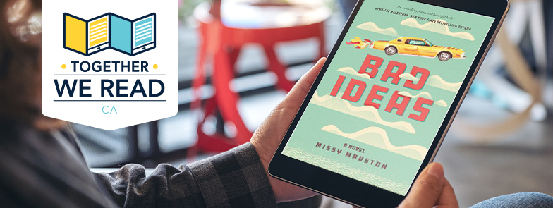 image of the cover of Bad Ideas on a tablet