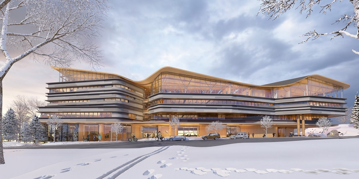 Image of future OPL-LAC Joint Facility, view from Albert Street (rendering)