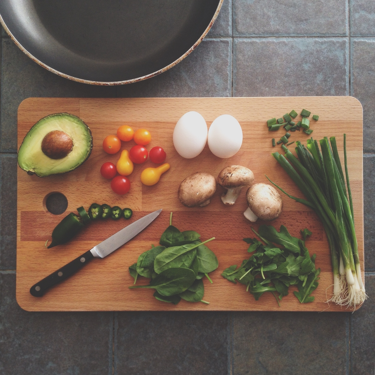 Photo of vegetables on a cutting board