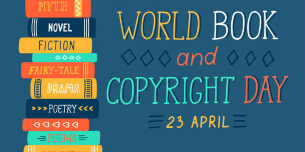 stack of books beside the words World Book and Copyright Day 23 April